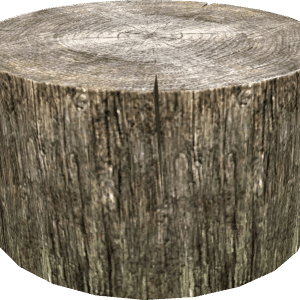 wood chopping stump